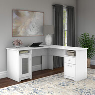 "Bush Cabot Collection L-Shaped Desk 60"" White - WC31930K"