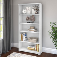 Bush Cabot Collection 5 Shelf Bookcase White - WC31966