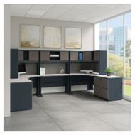 Bush Business Furniture Series A 2 Person Workstation - SRA069SLSU