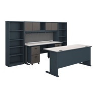 "Bush Business Furniture Series A Desk and Credenza Package 72"" - SRA071SLSU"