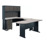 "Bush Business Furniture Series A U-Shaped Corner Desk Package 72"" - SRA077SLSU"