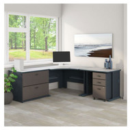 Bush Business Furniture Series A Corner Desk Package - SRA054SLSU