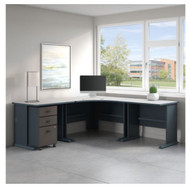 "Bush Business Furniture Series A Right Corner Desk Package 60"" - SRA041SLSU"