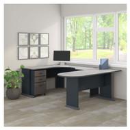 """Bush Business Furniture Series A U-Shaped Desk Package 72"""" - SRA078SLSU"""