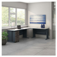 Bush Business Furniture Series A L-Shaped Desk Package - SRA060SLSU