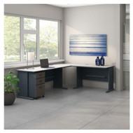 Bush Business Furniture Series A L-Shaped Desk Package - SRA059SLSU