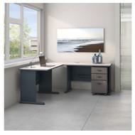 Bush Business Furniture Series A L-Shaped Desk Package - SRA058SLSU