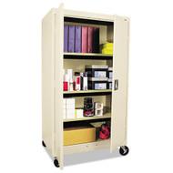 Alera Assembled Mobile Storage Cabinet w/Casters 36w x 24d x 66h, Putty - CM6624PY