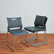 Alera Continental Series Plastic Stack Chair Gray 4/Carton - SC6546