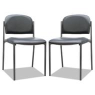 Alera Sorrento Series Stacking Guest Chair Black, 2/Carton - ST6716