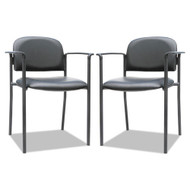 Alera Sorrento Series Stacking Guest Chair Black with Arms, 2/Carton - ST6716A