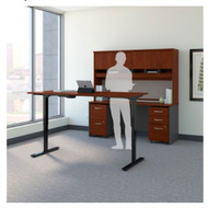 "Bush Business Furniture Series C Executive Height Adjustable Desk 72"" Package - SRC105HCSU"