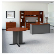 "Bush Business Furniture Series C Executive U-Shaped Desk 60"" Package Left Hansen Cherry - SRC099HCSU"
