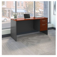 "Bush Business Furniture Series C Executive Desk Package 60"" x 24"" Hansen Cherry - SRC072HCSU"