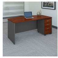 "Bush Business Furniture Series C Executive Bow Front Desk 72"" and Mobile File Package Hansen Cherry - SRC079HCSU"