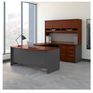 "Bush Business Furniture Series C Executive Bow Front U-Shaped Desk 72"" Package Hansen Cherry- SRC095CSU"
