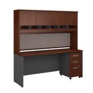 "Bush Business Furniture Series C Executive Desk 72"" x 24"" Package - SRC081HCSU"