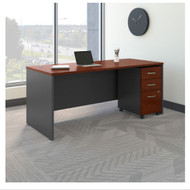 "Bush Business Furniture Series C Executive Desk 72"" x 30"" Package Hansen Cherry - SRC113HCSU"