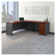 "Bush Business Furniture Series C Executive L-Shaped Executive Desk 72"" Package Right - SRC085HCSU"