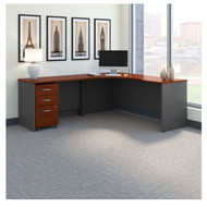 "Bush Business Furniture Series C Executive L-Shaped Executive Desk 72"" Package Left - SRC086HCSU"