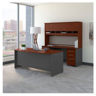 "Bush Business Furniture Series C Executive Bow Front Desk Package 72"" Hansen Cherry - SRC082HCSU"