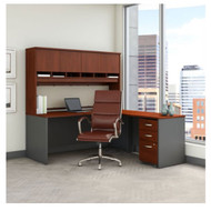 "Bush Business Furniture C Series Executive L-Shape Desk Package 72"" with Chair Hansen Cherry - SRC141HCSU"