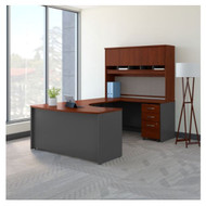 "Bush Business Furniture C Series Executive Bowfront Desk 60"" Package Right Hansen Cherry - SRC092HCSU"