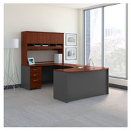 "Bush Business Furniture C Series Executive Bowfront Desk 60"" Package Left Hansen Cherry - SRC093HCSU"