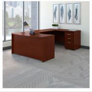 "Bush Business Furniture Series C Executive U-Shaped Desk 60"" Right Mahogany - SRC089MASU"