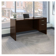 "Bush Business Furniture Series C Executive Desk Package 60"" x 24"" Mocha Cherry - SRC072MRSU"