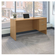 "Bush Business Furniture Series C Executive Desk Package 60"" x 24"" Light Oak - SRC072LOSU"