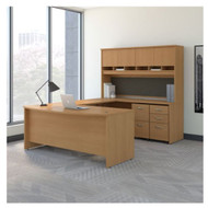 "Bush Business Furniture Series C Executive Bow Front U-Shaped Desk 72"" Package Light Oak - SRC095LOSU"