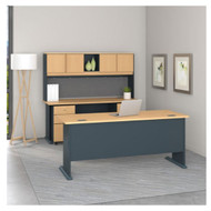 "Bush Business Furniture Series A Desk with Hutch and Files Beech 72""W - SRA052BESU"