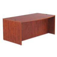 "Alera Valencia Collection Executive Bow Front Desk Shell 72"" Medium Cherry - ALE-VA227236MC"