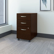 Bush Business Furniture 3 Drawer Mobile File Cabinet Mocha Cherry - FTR006MRSU