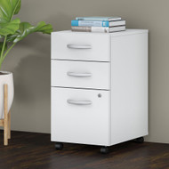 Bush Business Furniture 3 Drawer Mobile File Cabinet White - FTR006WHSU