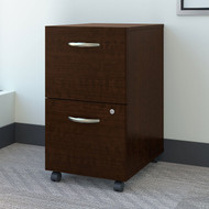 Bush Business Furniture 2 Drawer Mobile File Cabinet Mocha Cherry - FTR007MRSU