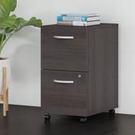 Bush Business Furniture 2 Drawer Mobile File Cabinet Storm Gray - FTR007SGSU