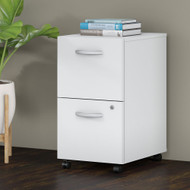 Bush Business Furniture 2 Drawer Mobile File Cabinet White - FTR007WHSU