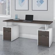 Bush Business Furniture Jamestown 72W Desk with 4 Drawers - JTN005SGWHSU