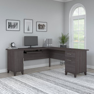 Bush Furniture Somerset 72W L-Shaped Desk with Storage Storm Gray - WC81510K