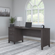 Bush Furniture Somerset 72W Office Desk with Drawers Storm Gray - WC81572