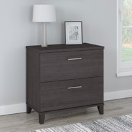 Bush Furniture Somerset 2 Drawer Lateral File Cabinet Storm Gray - WC81580