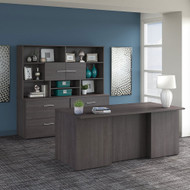 "Bush Business Furniture Office 500 Executive Desk 72"" Package Storm Gray - OF5001SGSU"