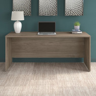 """Bush Business Furniture Office 500 Credenza Desk 72""""W x 24""""D Modern Hickory - OFD272MH"""