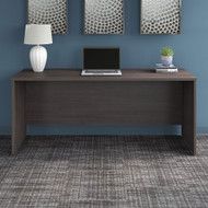 "Bush Business Furniture Office 500 Credenza Desk 72""W x 24""D Storm Gray - OFD272SG-Z"