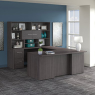Bush Business Furniture Office 500 72W U-Shaped Executive Desk Package Storm Gray - OF5003SGSU