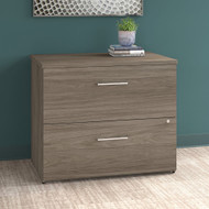 "Bush Office 500 36""W 2-Drawer Lateral File Cabinet Modern Hickory - OFF136MHSU"