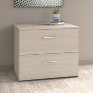 "Bush Office 500 36""W 2-Drawer Lateral File Cabinet Sand Oak - OFF136SOSU"