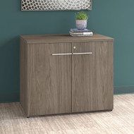 "Bush Business Furniture Office 500 36"" Storage Cabinet Modern Hickory - OFS136MHSU"